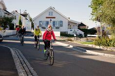 Fiordo de Oslo: En bicicleta a tu aire - Camino En Bici Fiordo De Oslo, Bicycle, Street View, Drive Way, Bicycles, Forests, Scenery, Bike, Bicycle Kick