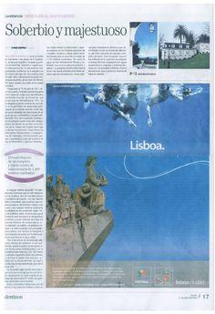 Reportaje para el Periódico de Cataluña, editado en España.  Reportaje sobre el Gran Hotel Real.  Reportaje escrito por David Espriu