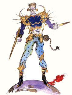 Final Fantasy VI - Magic Master Concept Art - Yoshitaka Amano