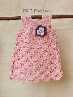 Crochet pattern Baptism baby girl dress pattern by GAMMAstudio