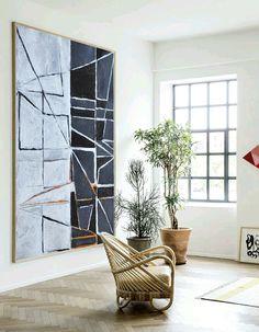 Large Painting Minimalist Art Hand Painted by CelineZiangArt