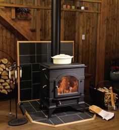 In the winter, I love sitting in front of a wood stove watching the flames, while drinking hot chocolate & reading. Cottage Homes, Cottage Kits, Colorado Cabins, Wood Stove Cooking, Backyard Office, Wood Stoves, Stove Fireplace, Stove Oven, Log Burner