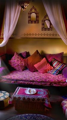 Zu Sanchez Photography/Getty Images architecture home interior design Moroccan style seating sofa living room dream home
