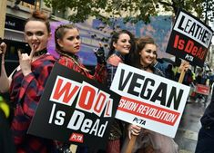 As London celebrates 40 years of punk, PETA activists showed up at the opening of London Fashion Week urging designers to get behind the next style revolution – fashion that doesn't harm animals. As London celebrates 40 years of punk, PETA activists showed up at the opening of London Fashion Week urging designers to get behind the next style revolution – fashion that doesn't harm animals. #vegan #fashion