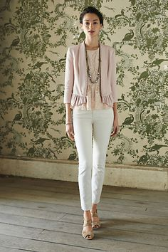 pretty pink ruffled blazer