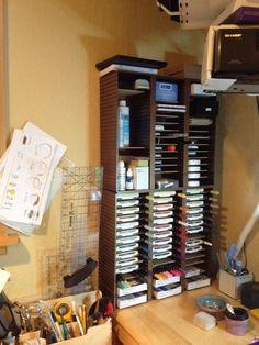 DIY CD rack Ink Storage by karjor - Cards and Paper Crafts at Splitcoaststampers