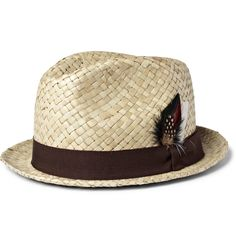 "For the Gentlemen: Time to hit the beach in this Paul Smith Straw Trilby Hat and embrace words from the great Frank Sinatra, ""Cock your hat - angles are attitudes."""