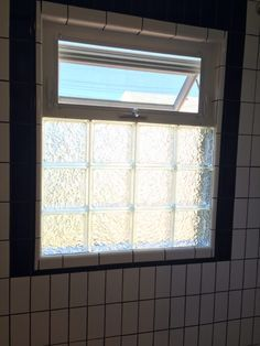 Glass blocks and an awning window