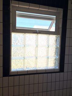 Glass blocks and an awning window