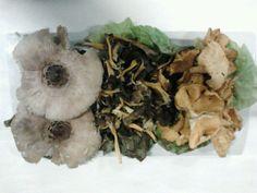 Setas muy apetecibles en nuestra cocina: Pleurotus ostreatus, Trompetas de los Muertos y Cantarelus.