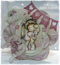 Some are so wonderful at coloring their Magnolia stamps...I have a lot to learn!!! What a darling card too!!