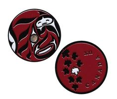 """$10.00USD JoeCacher Life 2011: Black Nickel with Deep Red Geocoin  Using JoeCacher's favorite aboriginal artist Quentin Harris' original artwork  boomerangpapa was inspired to create this coin after the birth of his daughter on New Years Day, 2011. Life in it's truest form!  This coin is in Black Nickel with Deep Red and a unique, genuine semi-precious Paua gemstone!  This geocoin is trackable at http://www.geocaching.com/track/ with its own icon.  Size: 1 5/8""""(4.1cm) across x 1/8""""(3mm)…"""