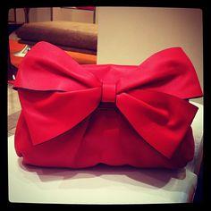 Valentino Clutch. I <3 bows.