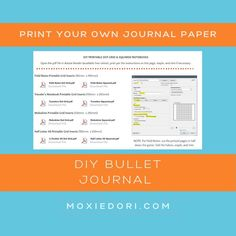 Calling all bullet journal lovers! Want to make a DIY journal? Or maybe print out some practice sheets? Hop over to the MoxieCafe and grab your free set of dot grid and graph PDF downloads. #intentionaliving #bulletjournal February Bullet Journal, Bullet Journal Spread, Squared Notebook, Journal Paper, Printed Pages, Travelers Notebook, Diy Paper, Spreads, Grid