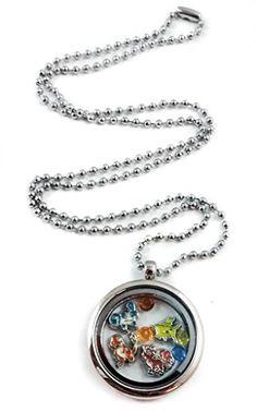 Pokemon Living Memory Locket Necklace by Living Memory Lockets for Less Pikachu Charmander Bulbasaur – Pokemon Jewelry