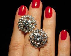 Materials: Silver 925 Sample, Topaz Size: External size 20x20 mm, pair weight 9.9 g ##handmade Topaz Earrings, Diamond Earrings, Stud Earrings, Close Up Photos, Studs, Silver, Handmade, Free, Jewelry