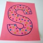 Star stickers - Letter S Alphabet letters letter s craft for kids
