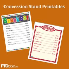 concession stand food concession stand ideas
