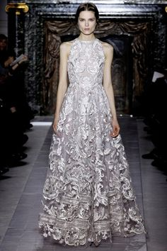 January 2013, Valentino. A sophisticated angel in silver.