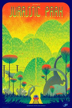 Kevin Tong - Jurassic Park. I want this poster for my house
