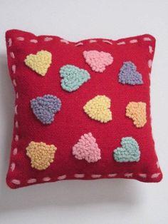 Valentine Conversation Heart Pillow