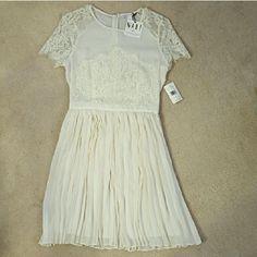 Nwt Elegant White Lace Dress