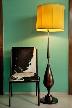 John Richard Contemporary Lamp Showcases A Brass Horn And Acrylic Base Along With Pull Chains