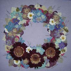 Wreath of Memorial Flowers, Preserved by Pressed Garden ~ Annie Fentz Smith ~ www.pressedgarden.com