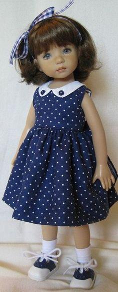 Ag Doll Clothes, Doll Clothes Patterns, Girl Dolls, Baby Dolls, Fashion Dolls, Kids Fashion, Baby Frocks Designs, Baby Dress Design, Wellie Wishers Dolls