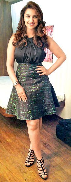 Parineeti Chopra on the sets of a reality show.