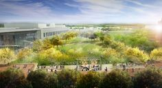 The final design for the jewel of the reboot of HemisFair Park — its civic park — was revealed to about 200 urban enthusiasts Tuesday night at the Institute of Texan Cultures by its planners. American Cemetery, See And Say, Building Concept, World's Fair, Park City, Water Features, Acre, Country Roads, Landscape