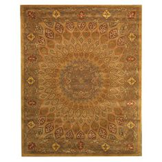 @Overstock - Primary materials: Wool    Pile height: 0.5 inches   Style: Traditional   http://www.overstock.com/Home-Garden/Hand-tufted-Wool-Gombad-Rug-76-x-96/6226249/product.html?CID=214117 $340.99