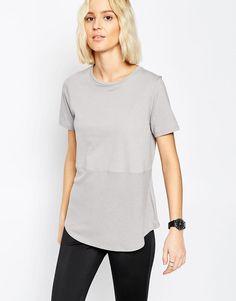 ASOS | ASOS Contrast Ribbed Panel T-Shirt at ASOS
