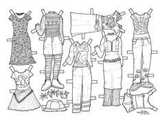 Girl and Boy Paper Dolls to Print and Colour. Pige og drenge påklædningsdukker til farvelægning. - Karen Bisgaard Petersen - Picasa Web Albums