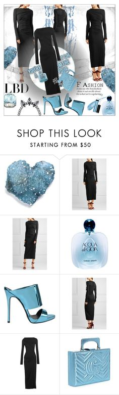 """Little Black Dress"" by strugaart ❤ liked on Polyvore featuring Vivienne Westwood Anglomania, Giorgio Armani, Giuseppe Zanotti, Gucci, Butter London and LBD"