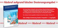 Rückruf: Thieme Verlag ruft Buch aufgrund falscher Dosierungsangabe für Kinder zurück  http://www.cleankids.de/2014/03/03/rueckruf-thieme-verlag-ruft-buch-aufgrund-falscher-dosierungsangabe-fuer-kinder-zurueck/45497/
