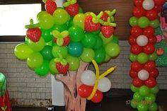 Happy Day El Shaday: DECORACAO DE BALOES FESTA MORANGUINHO