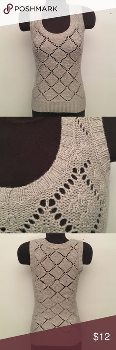 BOGO SALE! Express Sweater Top 60% Acrylic, 40% Merino Wool. Light Gray. (S3B) Express Tops