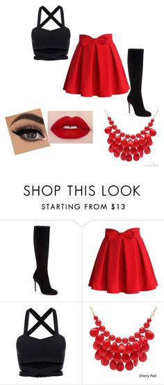 """sweet"" by abelina-ruiz-loves-fashion ❤ liked on Polyvore featuring Christian Louboutin, Chicwish and Alexa Starr"