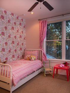 Art Deco Home Design: Ecléctica Niños husillo Jenny Lind Cama Ping Flores del papel pintado y cortinas, accesorios modernos, Jenny Lind Cama ~ Outmc