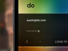 login form mobile UI inspiration