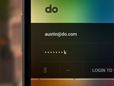 login form mobile UI inspiration / sweet color gradient #sorrynotsorry