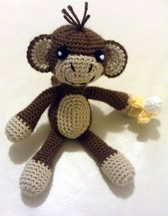 Monkey with Banana - crochet