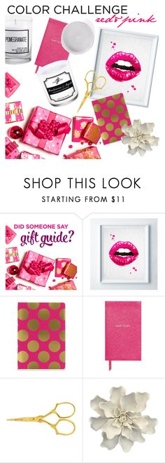 """""""red&pink"""" by jscandlestudio ❤ liked on Polyvore featuring interior, interiors, interior design, home, home decor, interior decorating, ULTA, WALL, SNAP and Smythson"""