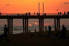 Sunset Photo by Joe Katchka Huntington Beach, Marina Bay Sands, Sunset, Building, Travel, Viajes, Buildings, Destinations, Sunsets