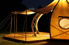 Would You Ditch Your Old Tent For This Unique Bamboo Glamper - Froute Pod from Giant Grass