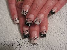 Black and white french #Nails
