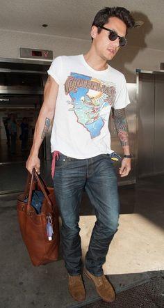 John Mayer Rocks Vintage Grateful Dead T Shirt