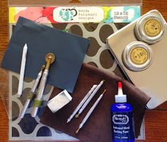MercArt: The Metal Embosser: Stencils and Aluminum on a Tin Box