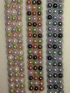 Beadweaving with pearls